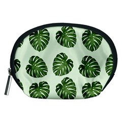 Leaf Pattern Seamless Background Accessory Pouches (medium)