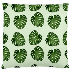 Leaf Pattern Seamless Background Large Flano Cushion Case (two Sides) by BangZart