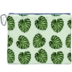 Leaf Pattern Seamless Background Canvas Cosmetic Bag (xxxl) by BangZart