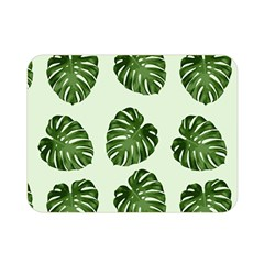 Leaf Pattern Seamless Background Double Sided Flano Blanket (mini)  by BangZart