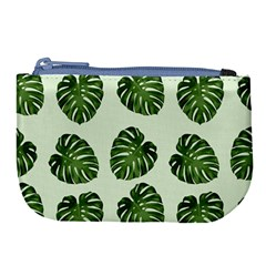 Leaf Pattern Seamless Background Large Coin Purse by BangZart