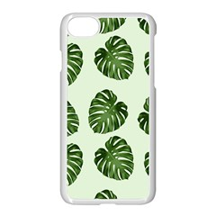Leaf Pattern Seamless Background Apple Iphone 7 Seamless Case (white) by BangZart