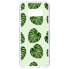 Leaf Pattern Seamless Background Samsung Galaxy S8 White Seamless Case