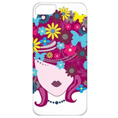 Beautiful Gothic Woman With Flowers And Butterflies Hair Clipart Apple Iphone 5 Classic Hardshell Case by BangZart
