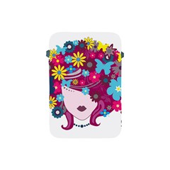 Beautiful Gothic Woman With Flowers And Butterflies Hair Clipart Apple Ipad Mini Protective Soft Cases by BangZart
