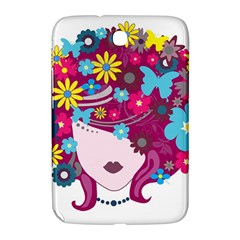 Beautiful Gothic Woman With Flowers And Butterflies Hair Clipart Samsung Galaxy Note 8 0 N5100 Hardshell Case  by BangZart