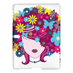 Beautiful Gothic Woman With Flowers And Butterflies Hair Clipart Samsung Galaxy Tab S (10 5 ) Hardshell Case  by BangZart