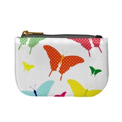 Beautiful Colorful Polka Dot Butterflies Clipart Mini Coin Purses by BangZart