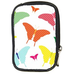 Beautiful Colorful Polka Dot Butterflies Clipart Compact Camera Cases by BangZart