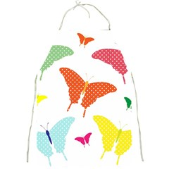 Beautiful Colorful Polka Dot Butterflies Clipart Full Print Aprons