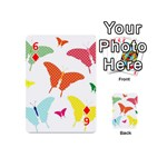 Beautiful Colorful Polka Dot Butterflies Clipart Playing Cards 54 (Mini)  Front - Diamond6