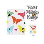 Beautiful Colorful Polka Dot Butterflies Clipart Playing Cards 54 (Mini)  Front - Club6