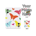 Beautiful Colorful Polka Dot Butterflies Clipart Playing Cards 54 (Mini)  Front - Club10