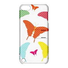 Beautiful Colorful Polka Dot Butterflies Clipart Apple Ipod Touch 5 Hardshell Case With Stand