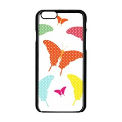 Beautiful Colorful Polka Dot Butterflies Clipart Apple Iphone 6/6s Black Enamel Case by BangZart
