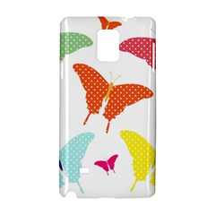 Beautiful Colorful Polka Dot Butterflies Clipart Samsung Galaxy Note 4 Hardshell Case by BangZart