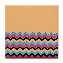 Chevrons Patterns Colorful Stripes Tile Coasters
