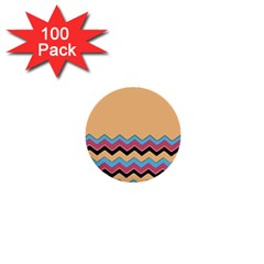 Chevrons Patterns Colorful Stripes 1  Mini Buttons (100 Pack)