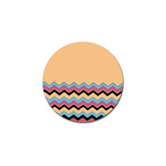Chevrons Patterns Colorful Stripes Golf Ball Marker