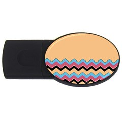 Chevrons Patterns Colorful Stripes Usb Flash Drive Oval (2 Gb) by BangZart