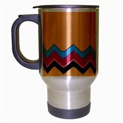 Chevrons Patterns Colorful Stripes Travel Mug (silver Gray)