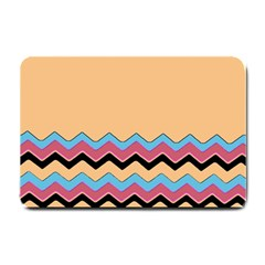 Chevrons Patterns Colorful Stripes Small Doormat  by BangZart