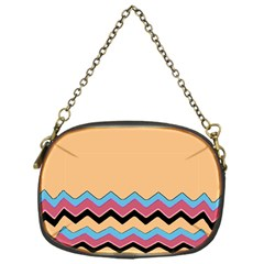 Chevrons Patterns Colorful Stripes Chain Purses (one Side)  by BangZart