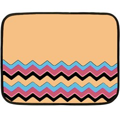 Chevrons Patterns Colorful Stripes Double Sided Fleece Blanket (mini)