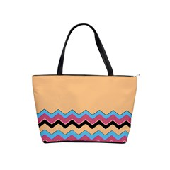 Chevrons Patterns Colorful Stripes Shoulder Handbags by BangZart