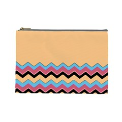 Chevrons Patterns Colorful Stripes Cosmetic Bag (large)  by BangZart