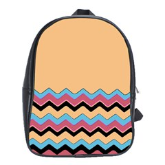 Chevrons Patterns Colorful Stripes School Bags(large)
