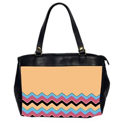 Chevrons Patterns Colorful Stripes Office Handbags (2 Sides)  by BangZart