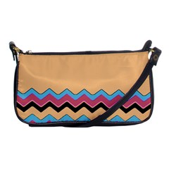 Chevrons Patterns Colorful Stripes Shoulder Clutch Bags by BangZart