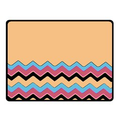 Chevrons Patterns Colorful Stripes Fleece Blanket (small)