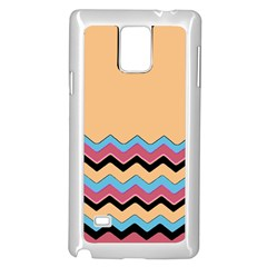 Chevrons Patterns Colorful Stripes Samsung Galaxy Note 4 Case (white) by BangZart