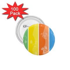 Floral Colorful Seasonal Banners 1 75  Buttons (100 Pack)