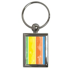Floral Colorful Seasonal Banners Key Chains (rectangle)
