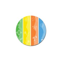 Floral Colorful Seasonal Banners Golf Ball Marker (10 Pack) by BangZart