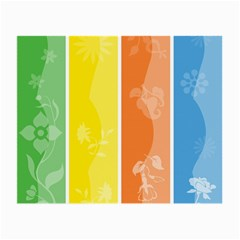 Floral Colorful Seasonal Banners Small Glasses Cloth by BangZart