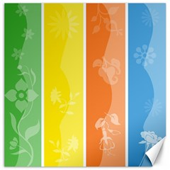 Floral Colorful Seasonal Banners Canvas 16  X 16   by BangZart
