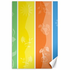 Floral Colorful Seasonal Banners Canvas 20  X 30