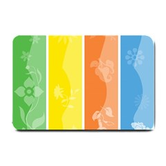 Floral Colorful Seasonal Banners Small Doormat