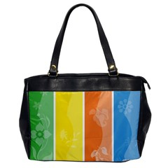 Floral Colorful Seasonal Banners Office Handbags by BangZart