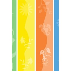 Floral Colorful Seasonal Banners 5 5  X 8 5  Notebooks by BangZart