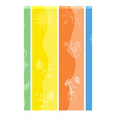 Floral Colorful Seasonal Banners Shower Curtain 48  X 72  (small)  by BangZart