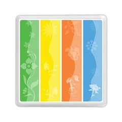 Floral Colorful Seasonal Banners Memory Card Reader (square)  by BangZart
