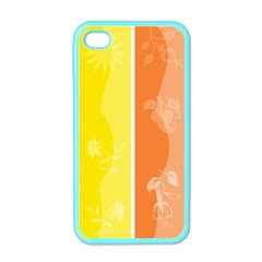 Floral Colorful Seasonal Banners Apple Iphone 4 Case (color) by BangZart