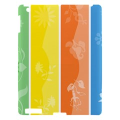 Floral Colorful Seasonal Banners Apple Ipad 3/4 Hardshell Case