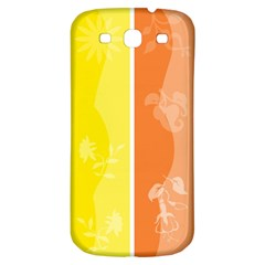 Floral Colorful Seasonal Banners Samsung Galaxy S3 S Iii Classic Hardshell Back Case by BangZart