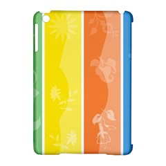 Floral Colorful Seasonal Banners Apple Ipad Mini Hardshell Case (compatible With Smart Cover) by BangZart